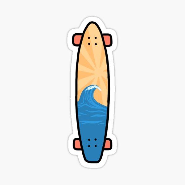 Beach Longboard Sticker