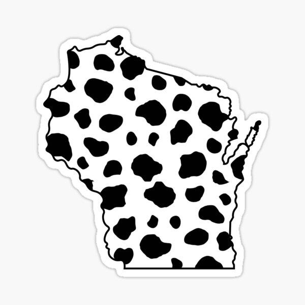 Wisconsin Cow Print Sticker