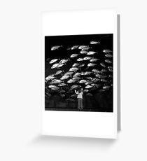 Paris - Maya and the silver fishes. Greeting Card