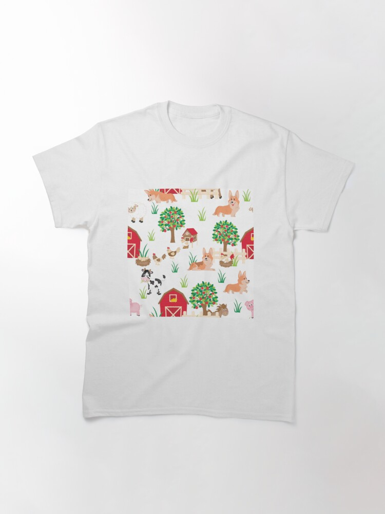 Alternate view of corgis on the village Classic T-Shirt