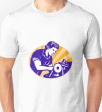 Female Machinist Seamstress Worker Sewing Machine Unisex T-Shirt