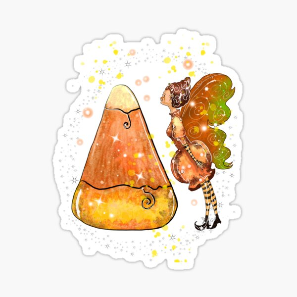Kindy The Candy Corn Ball Fairy™ Sticker