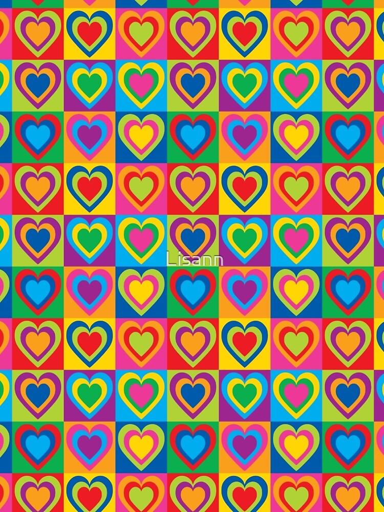 Pop Art Hearts by Lisann