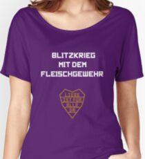 Blitzkrieg mit dem Fleischgewehr Women's Relaxed Fit T-Shirt