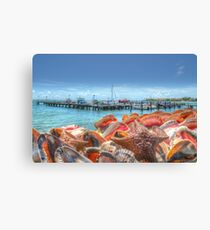 Marina at Montagu Beach in Nassau, The Bahamas Canvas Print