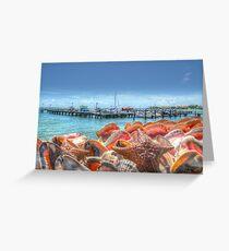 Marina at Montagu Beach in Nassau, The Bahamas Greeting Card