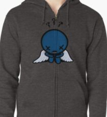 The Binding of Isaac - ??? (Blue Baby) Minimal Zipped Hoodie