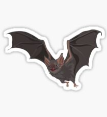 Eerie Vampire Bat Sticker
