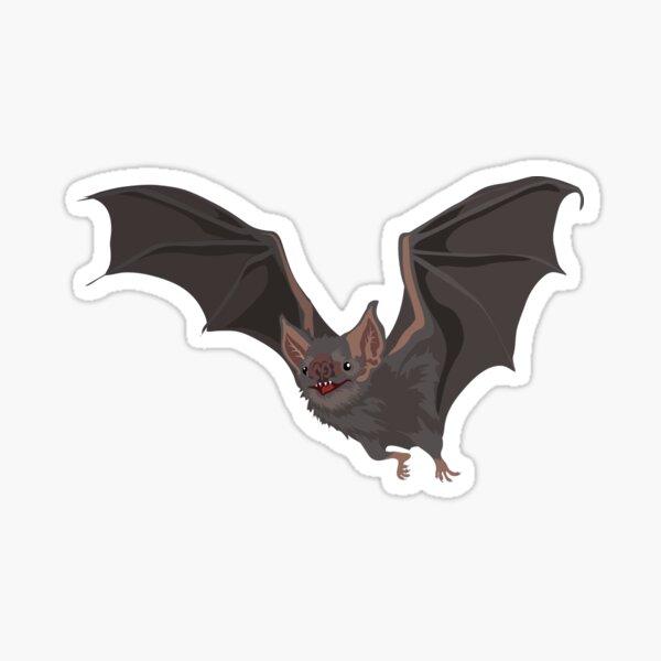 Eerie Vampire Bat Sticker