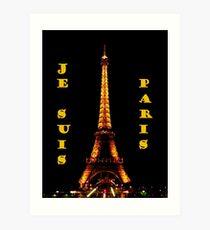 Je Suis Paris ~ 11/13/2015 Art Print
