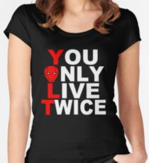 Red Hood: You Only Live Twice Women's Fitted Scoop T-Shirt