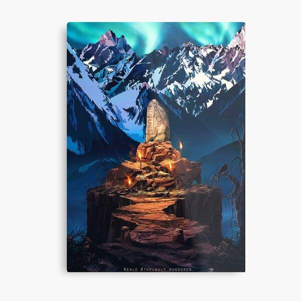 The Runestone Metal Print
