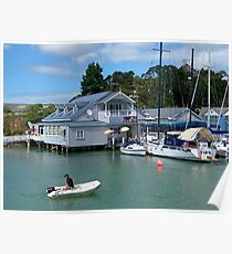 The old shop and cafe at Opua, Bay of Islands, NZ.....! Poster