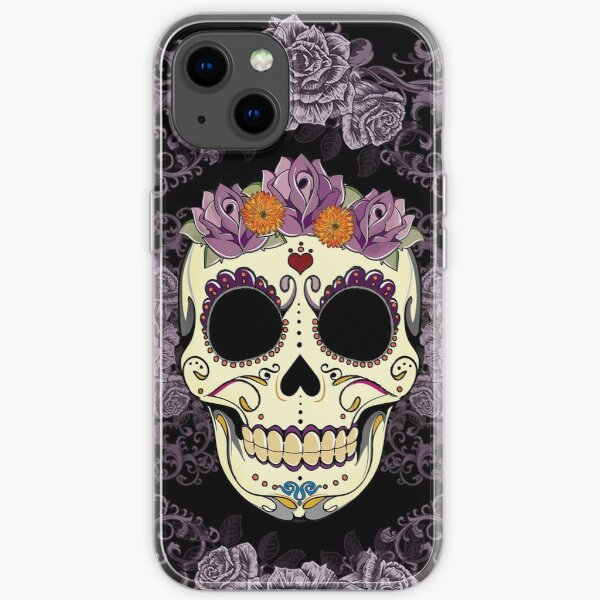Vintage Skull and Roses iPhone Soft Case