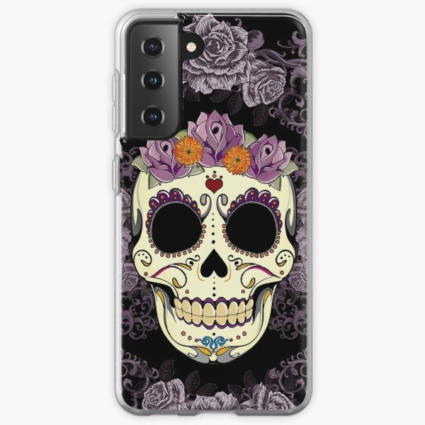 Vintage Skull and Roses Samsung Galaxy Soft Case