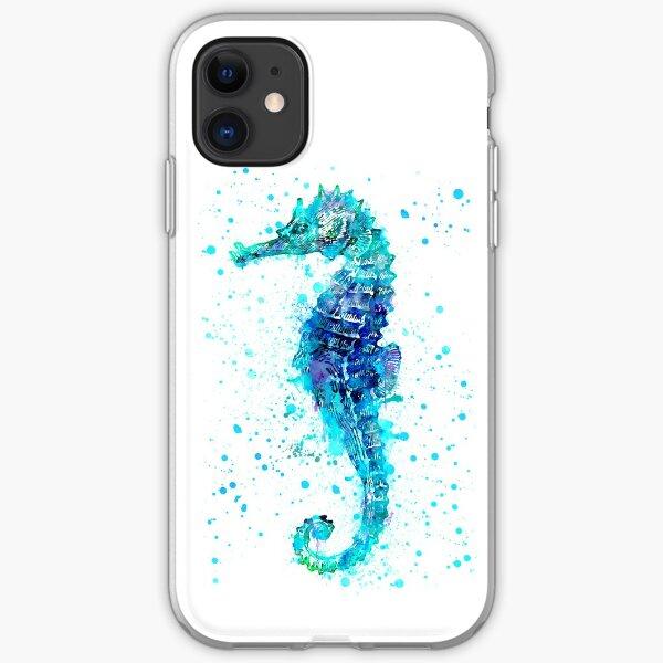 Blue Seahorse iPhone Soft Case