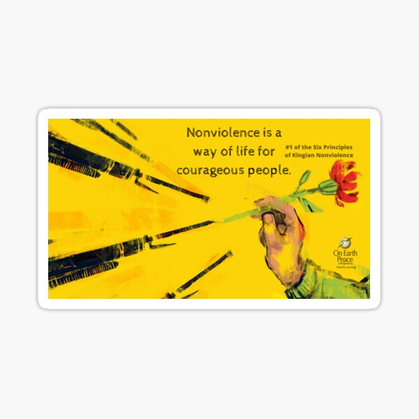 On Earth Peace Nonviolence Poster Sticker
