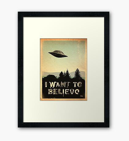 X-Phile: I WANT TO BELIEVE Framed Print