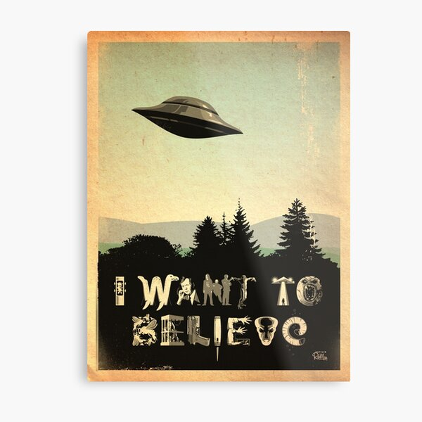 X-Phile: I WANT TO BELIEVE Metal Print