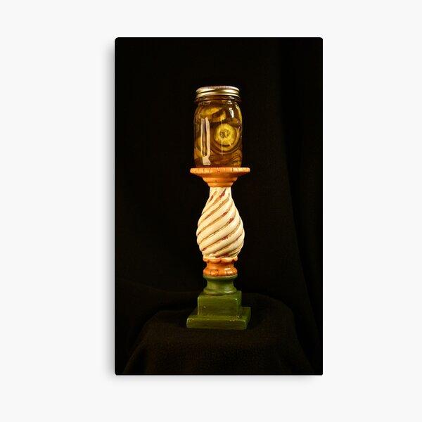 Pickles on a Pedestal Canvas Print