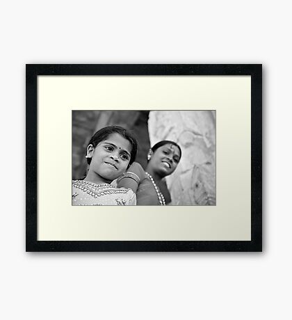 Indian Girls Framed Print