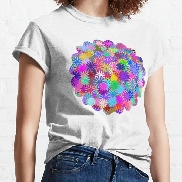 Meadow of Colorful Daisies Classic T-Shirt