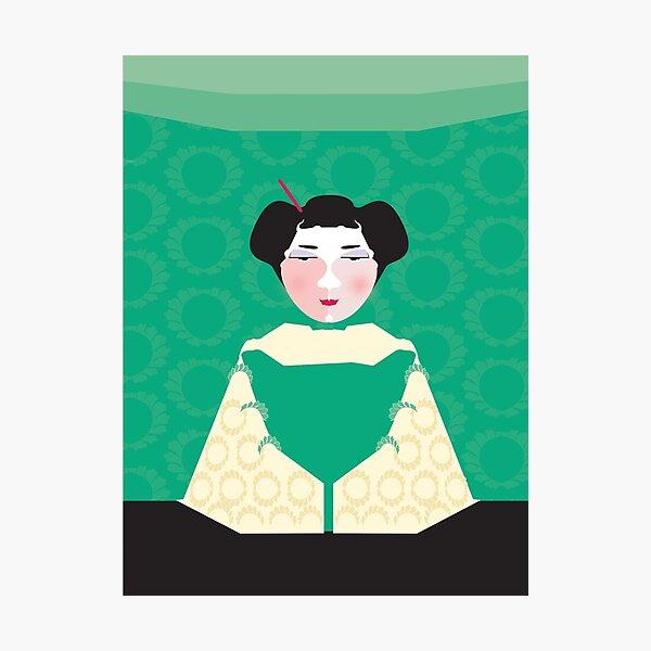 Geisha - green Photographic Print