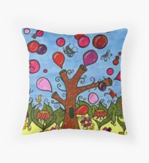 Tree Series I ~ bubbletree Throw Pillow
