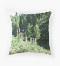 Two Hillsides Throw Pillow