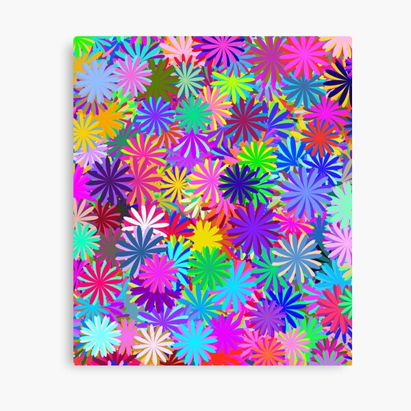Meadow of Colorful Daisies Canvas Print