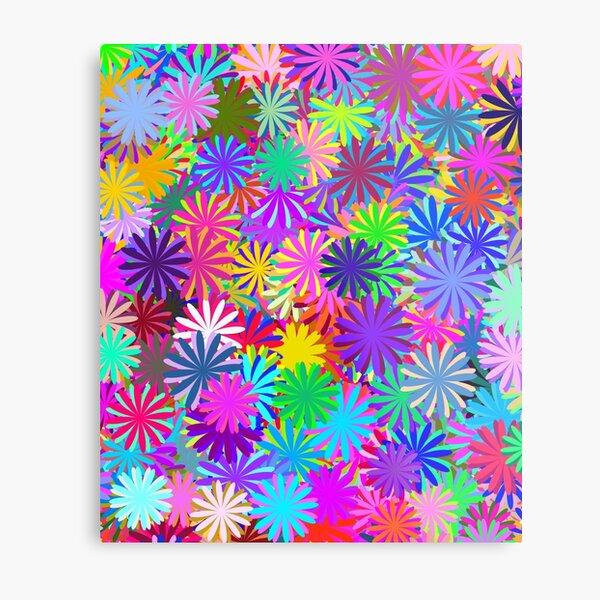 Meadow of Colorful Daisies Metal Print