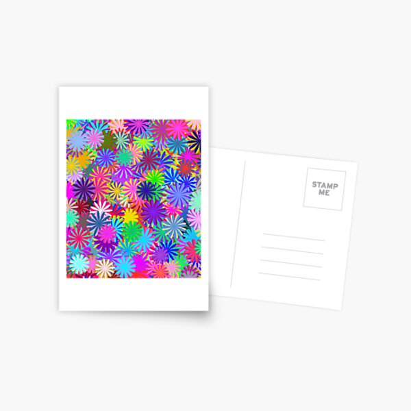 Meadow of Colorful Daisies Postcard