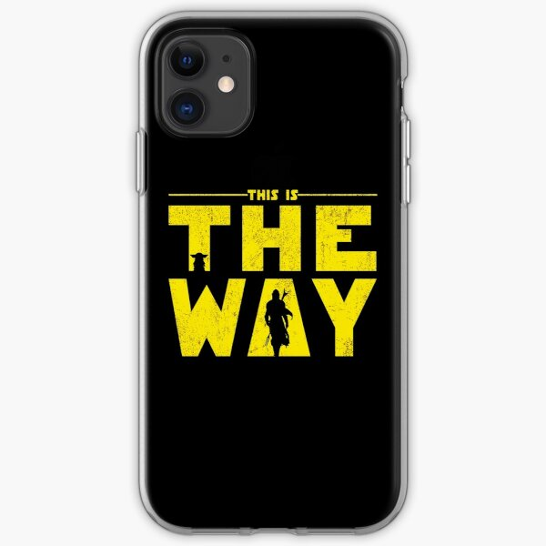 Retro This is The Way Yellow mando and the Baby iPhone Soft Case