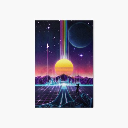 Neon Sunrise Art Board Print