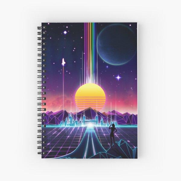 Neon Sunrise Spiral Notebook