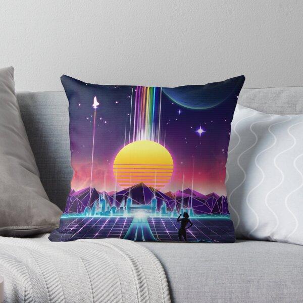 Neon-Sonnenaufgang Dekokissen