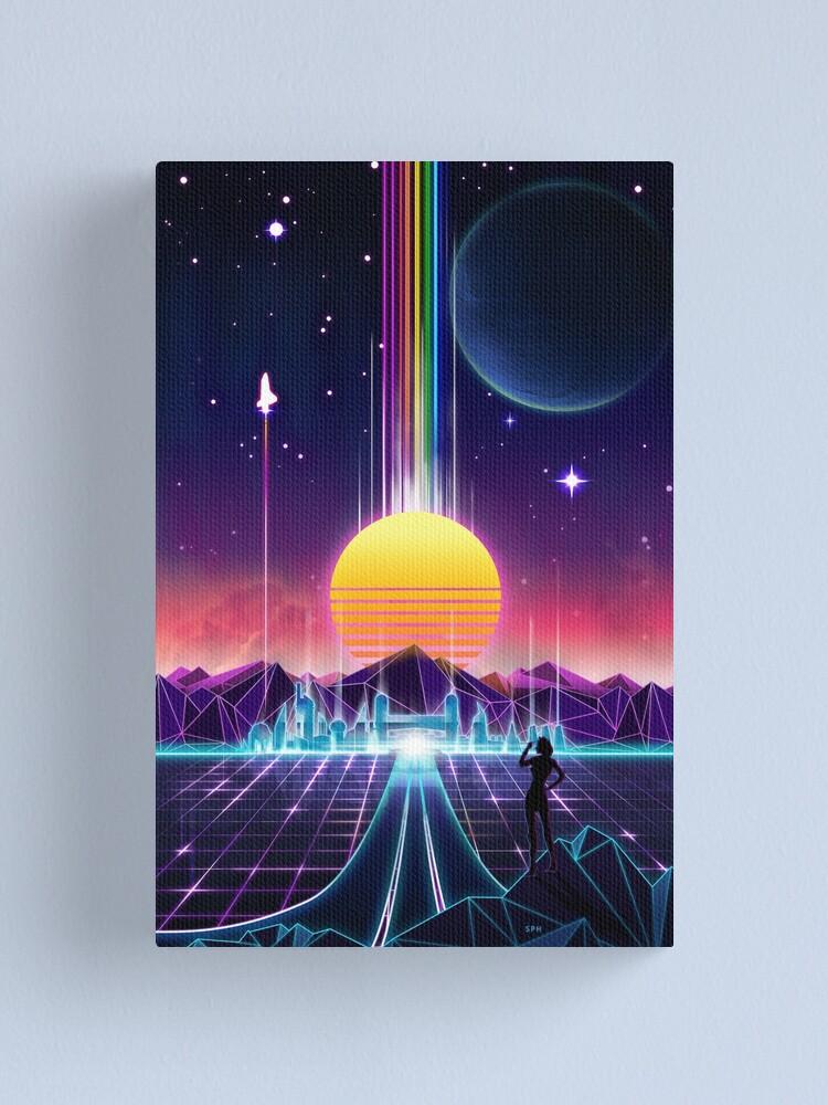 Alternate view of Neon Sunrise Canvas Print