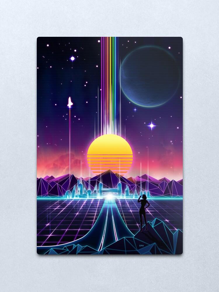 Alternate view of Neon Sunrise Metal Print
