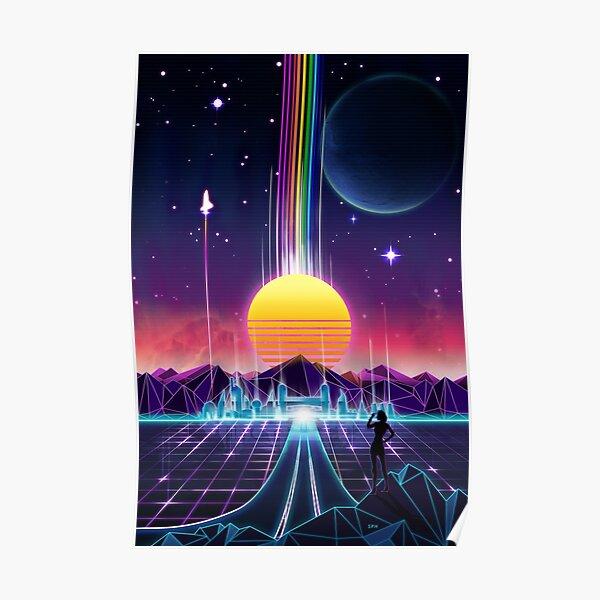 Neon Sunrise Poster