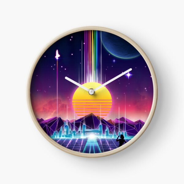 Neon Sunrise Clock