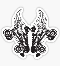 Roller Derby Skates With Wings Sticker