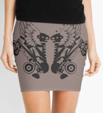 Roller Derby Skates With Wings Mini Skirt