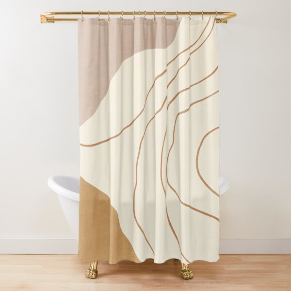 Abstract Minimalist Shower Curtain