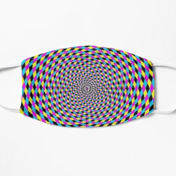Print, Colorful vortex spiral - hypnotic CMYK background, optical illusion Mask