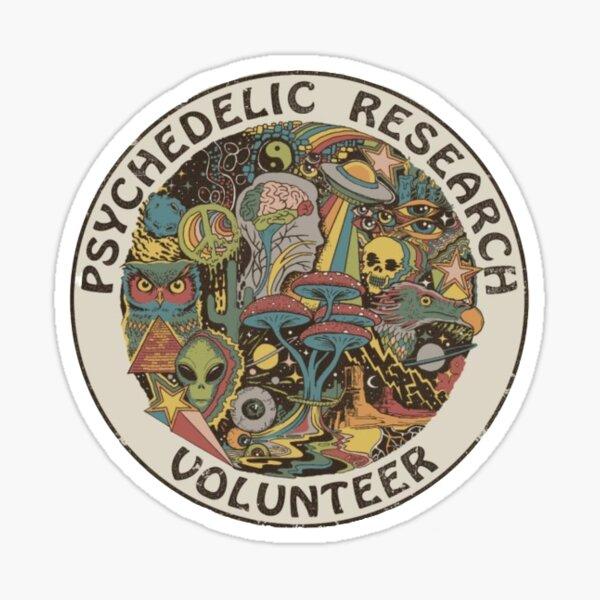 Psychedelic Research Volunteer Sticker