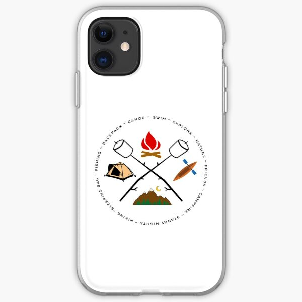 Campground Bonfire Marshmallow Rowboat Oar Lodge. iPhone Soft Case