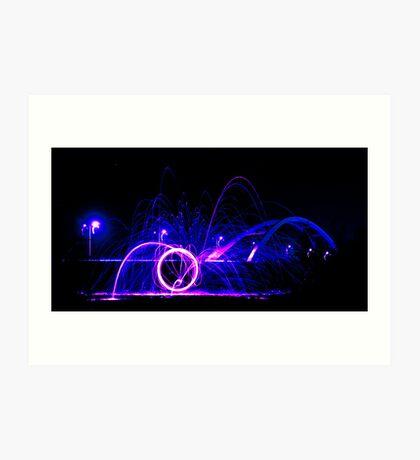 Wirewool Spinning - Newport SDR Bridge Art Print