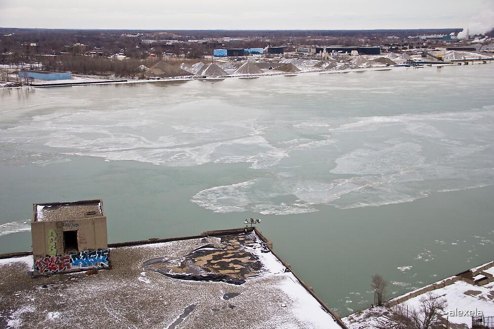 Detroit River by alexela