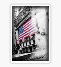 Something burns under Wall Street Sticker