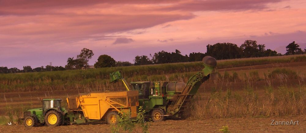John Deer Tractor and harvester by ZanneArt